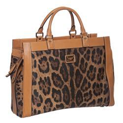 Dolce & Gabbana Leopard Print Satchel