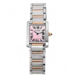 Cartier Women's Tank Rose Gold Steel Watch