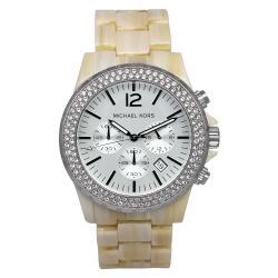 Michael Kors Women's MK5598 Madison Beige Plastic Quartz Watch
