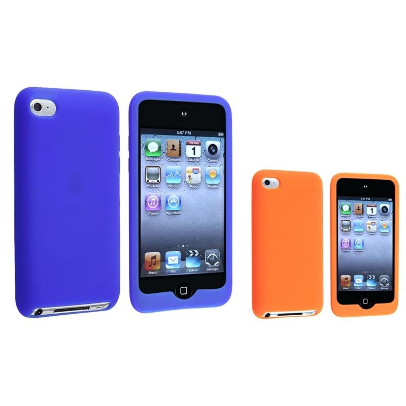 Blue Skin Case/ Orange Skin Case for Apple iPod Touch 4th Generation