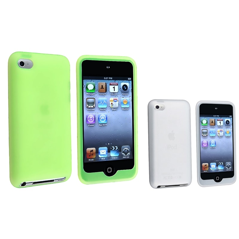 White Skin Case/ Green Skin Case for Apple iPod Touch 4th Generation