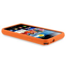 Orange Silicone Case/ Screen Protector for Samsung Galaxy S II i9100 - Thumbnail 2
