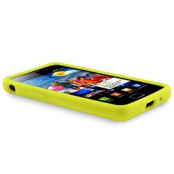 Yellow Silicone Case/ Screen Protector for Samsung Galaxy S II i9100