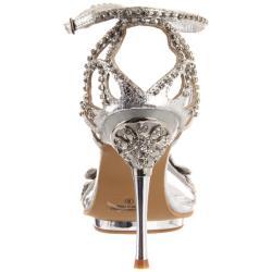 Celeste Women's 'Joyce-07' Silver X Rhinestone Heel - Thumbnail 2