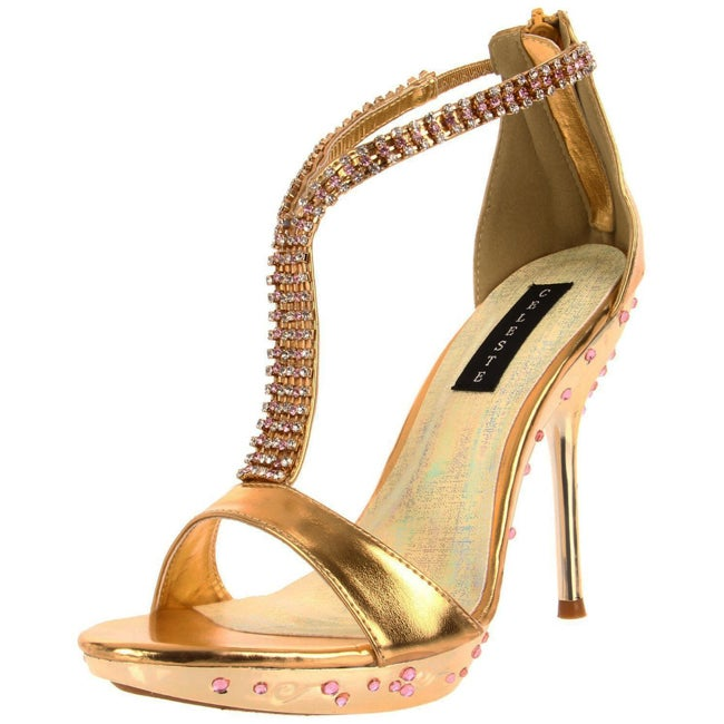 Celeste Women's 'May-21' Gold Crystal Heel
