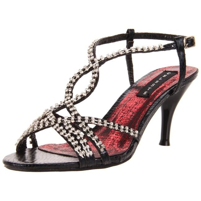Celeste Women's 'Mari-06' Black T-Strap Heel