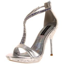 Celeste Women's 'May-21' Silver Crystal Heel