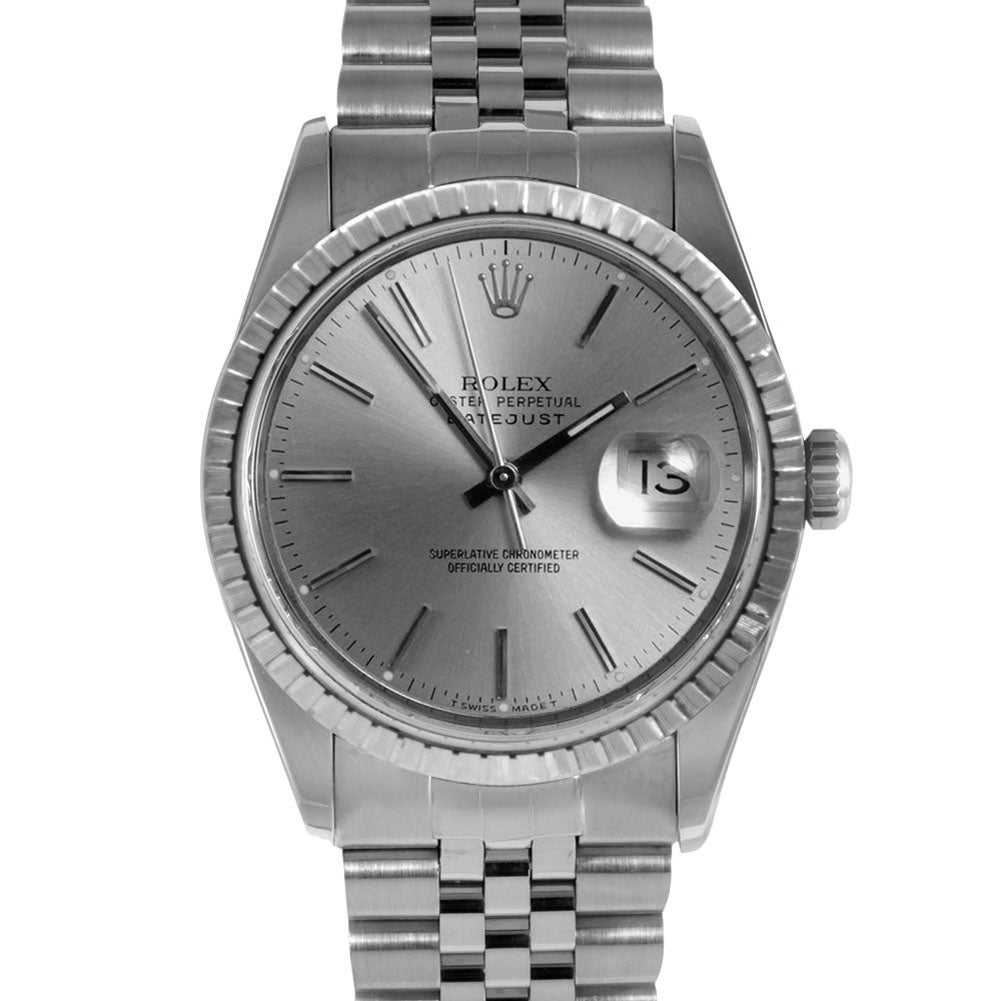 Pre-owned Rolex Men's Datejust Stainless Steel Watch