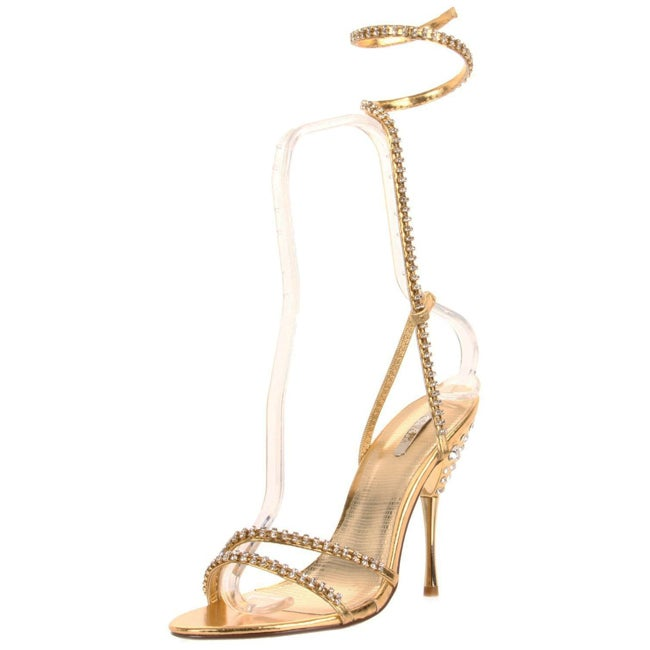 Celeste Women's 'Patricia-08' Gold Ankle Wrap Heel