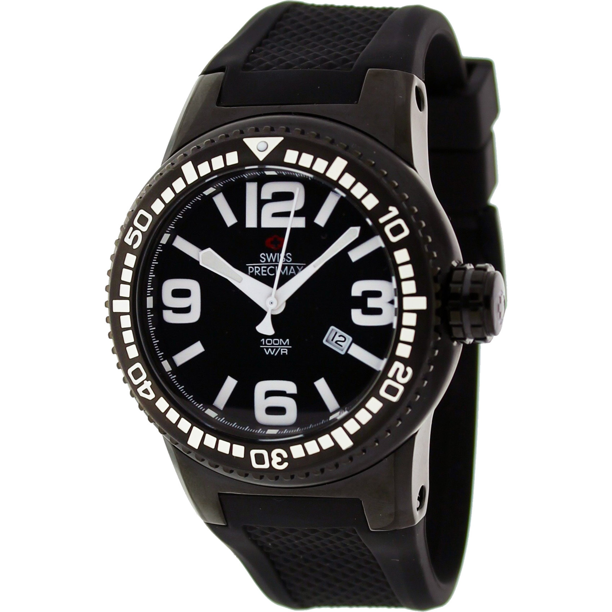 Swiss Precimax Men's Titan Black Dial Watch