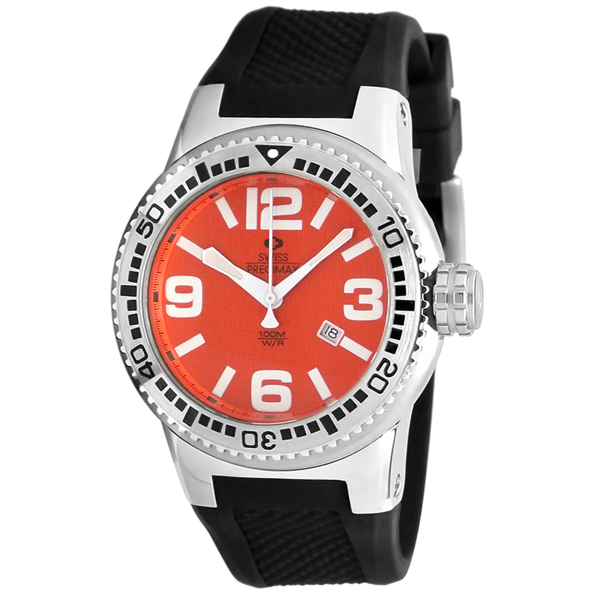 Swiss Precimax Men's Titan Red Dial Watch