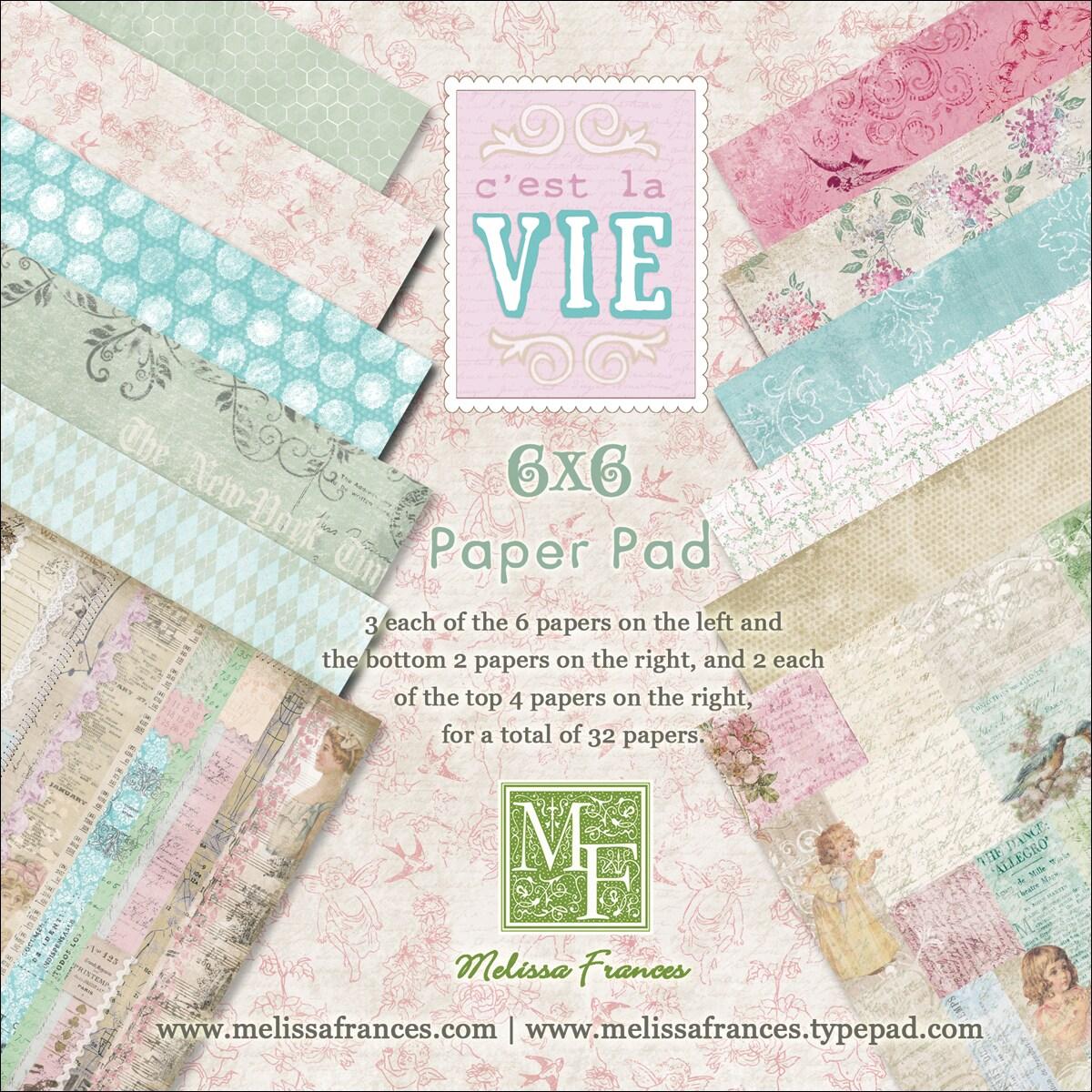 """C'est La Vie Paper Pad 6""""X6in"""