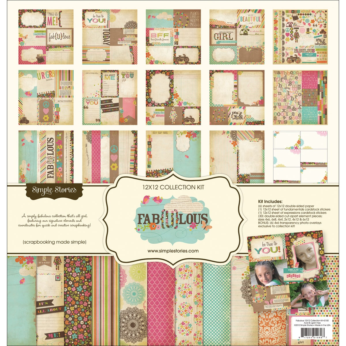 "Fab-U-Lous Collection Kit 12""X12in"