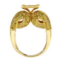 10k Yellow Gold 2 1/4 Ct Yellow Diamond Cocktail Ring - Thumbnail 1