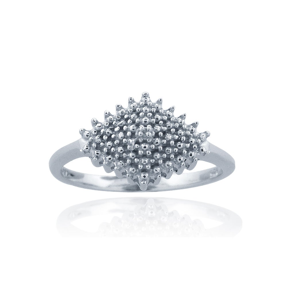 DB Designs Sterling Silver Diamond Accent Cocktail Ring