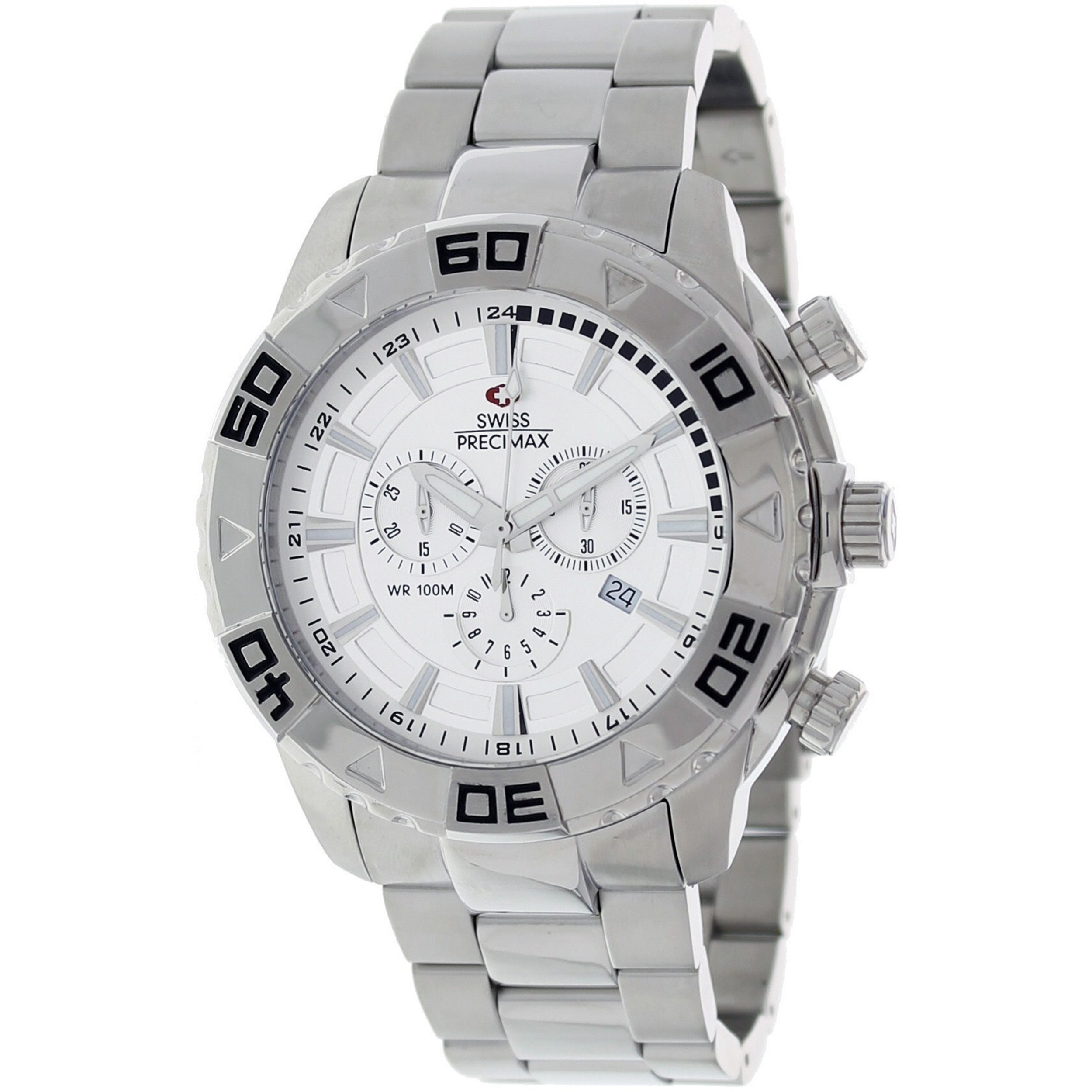 Swiss Precimax Men's Valor Elite Stainless Steel Watch - Thumbnail 0