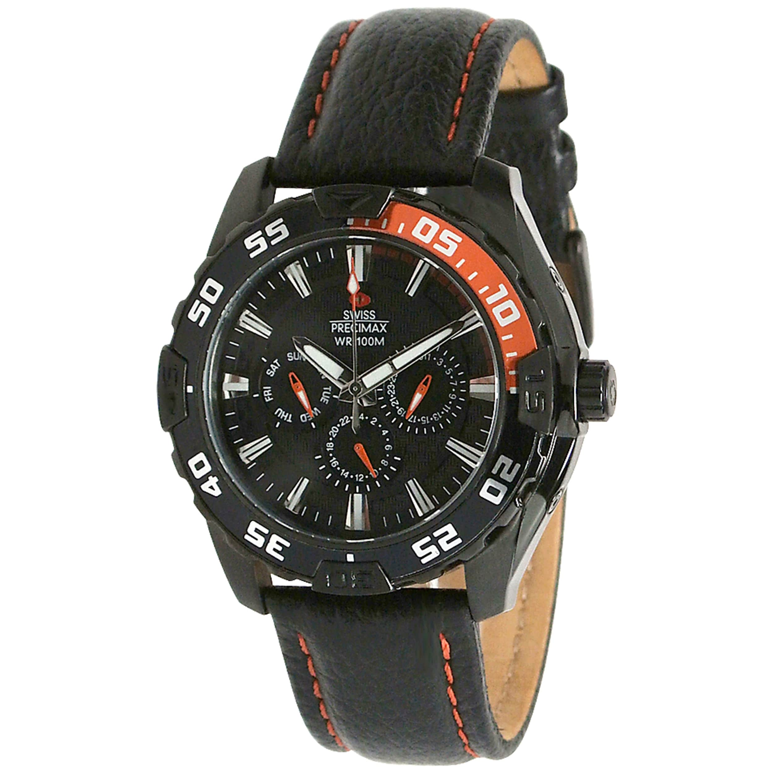 Swiss Precimax Men's Formula 7 XT Leather Watch