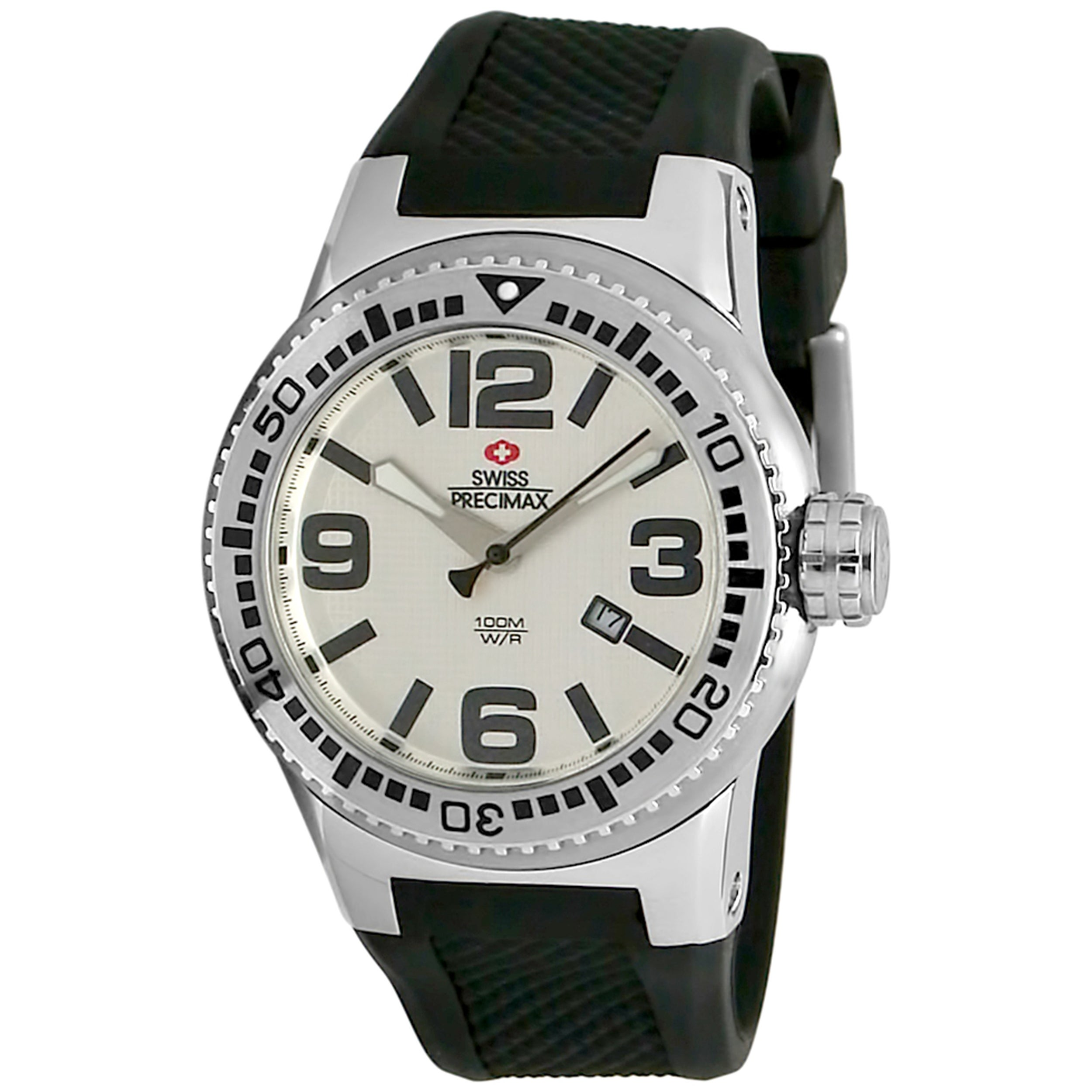 Swiss Precimax Men's Titan Silicone Water-Resistant Watch