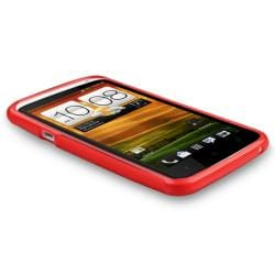 BasAcc Red Case/ Protector/ Headset/ Wrap for HTC One X - Thumbnail 1