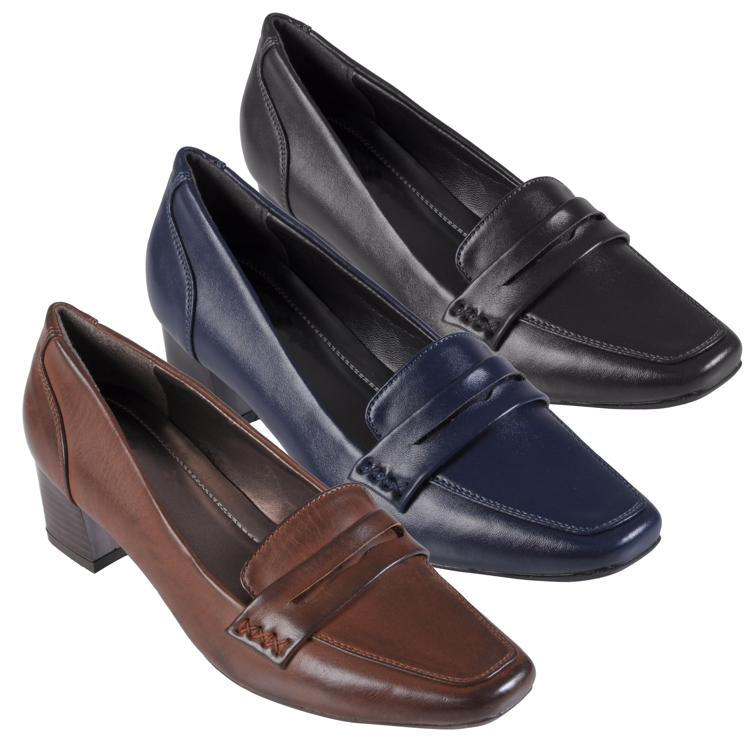Journee Collection Women's 'Boss-08' Faux Leather Square Toe Loafers