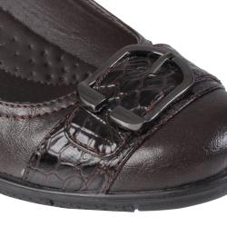 Journee Collection Women's 'Liz-1' Buckle Detail Almond Toe Loafer - Thumbnail 2