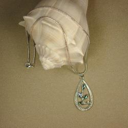 Jewelry by Dawn Teardrop Shaped Abalone Pendant Necklace