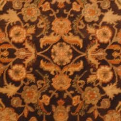 Indo Hand-knotted Mahal Brown/Gold Wool Rug (4' x 6') - Thumbnail 1