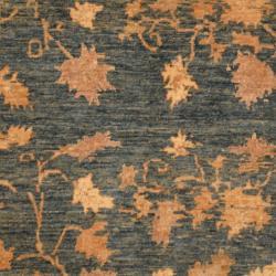 Afghan Hand-knotted Vegetable Dye Teal/ Ivory Wool Rug (4'9 x 5'10)