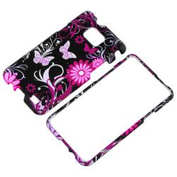 Black/ Pink Rubber Case/ Car Charger for Samsung Galaxy S II i9100 - Thumbnail 1