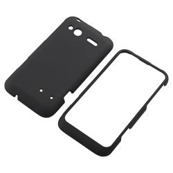 Black Rubber Case/ Screen Protector for HTC Radar - Thumbnail 1