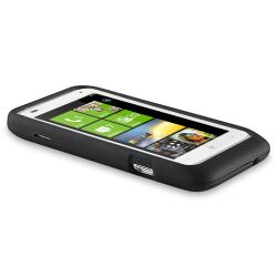 Black Rubber Case/ Screen Protector for HTC Radar - Thumbnail 2
