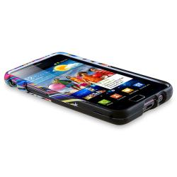 Black Rubber Case/ Screen Protector for Samsung Galaxy S II i9100