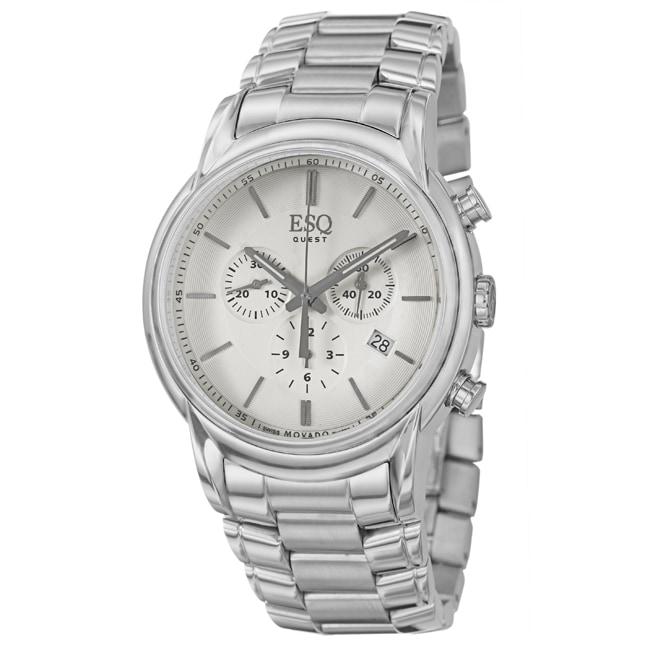 ESQ by Movado Men's 'Quest' Stainless Steel Swiss Quartz Watch