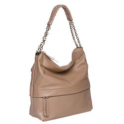 Christian Louboutin 'Marianne' Beige Leather Hobo Bag - Thumbnail 1