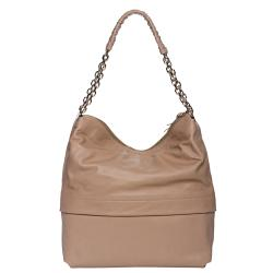 Christian Louboutin 'Marianne' Beige Leather Hobo Bag - Thumbnail 2
