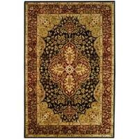 Safavieh Handmade Persian Legend Black/ Red Wool Rug (6' x 9')