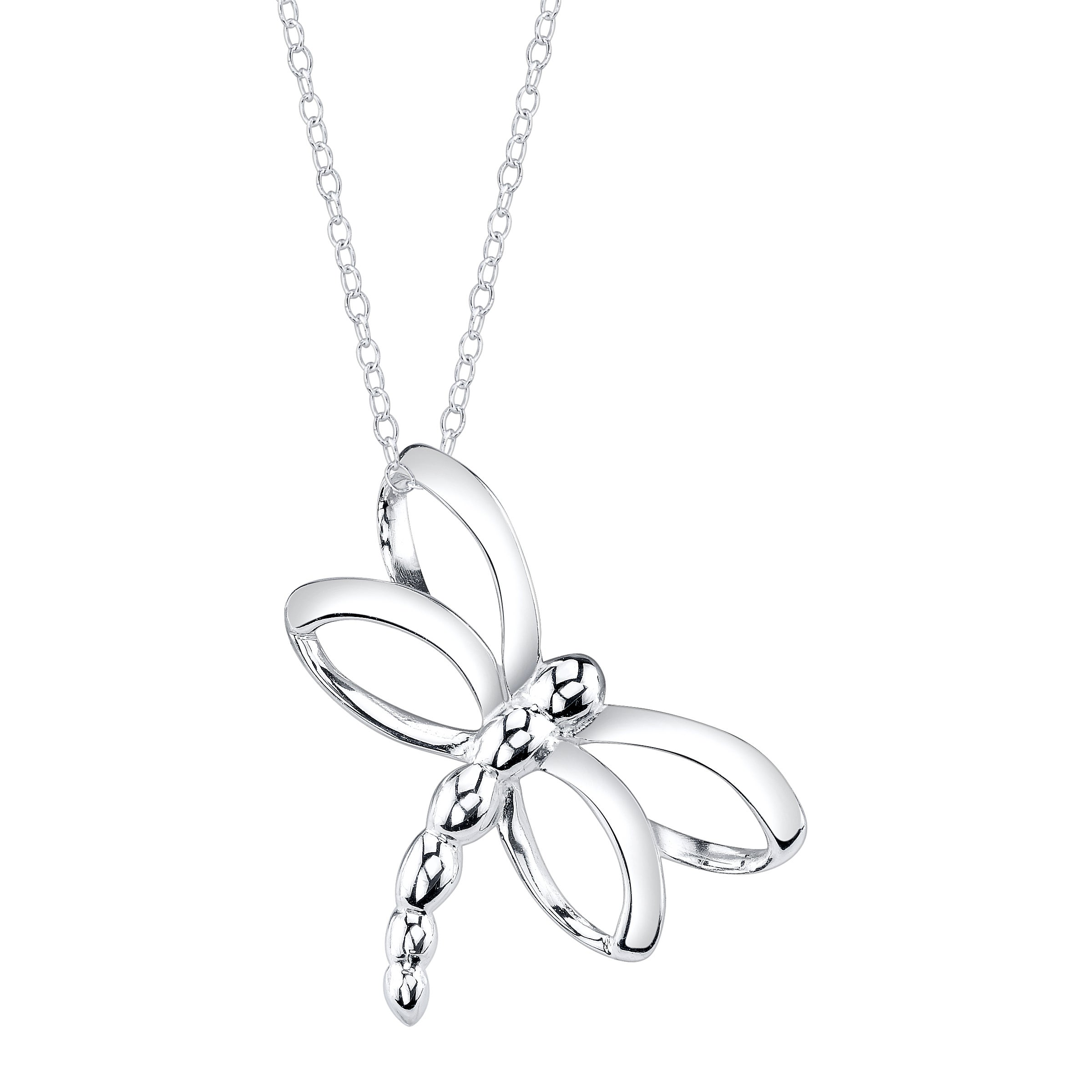 Sterling Silver Open Dragonfly Necklace