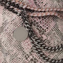 Stella McCartney 'Falabella' Python Print Canvas 3-strap Tote Bag