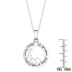 Sterling Silver 'Life isn't about finding yourself. It's about creating yourself' Necklace - Thumbnail 2
