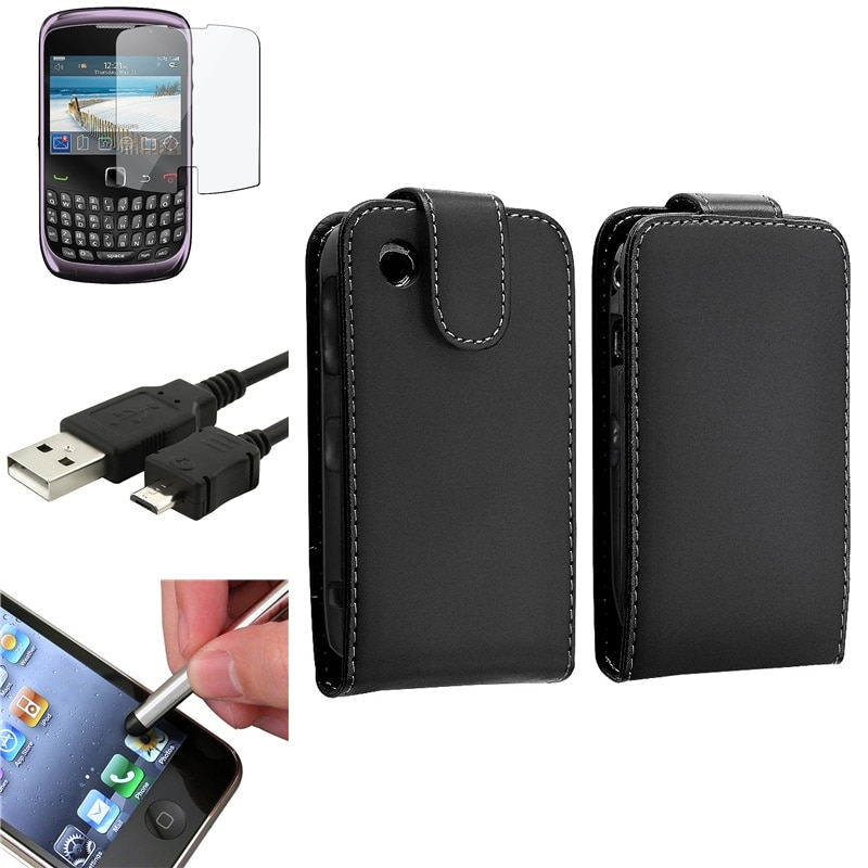 Case/ Screen Protector/ USB Cable/ Stylus for BlackBerry Curve 9300