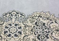nuLOOM Handmade Damask Grey Wool Rug (7'6 x 9'6) - Thumbnail 2