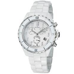 Grovana Women's White Dial White Ceramic Chronograph Quartz Watch