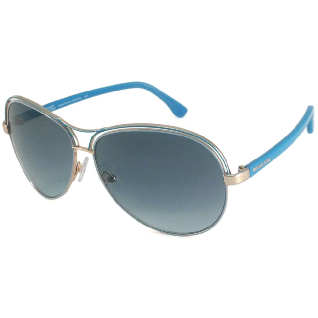 b8cfa4a968 Shop Michael Michael Kors Women s M2461S Santa Monica Aviator Sunglasses -  Free Shipping On Orders Over  45 - Overstock.com - 6827814