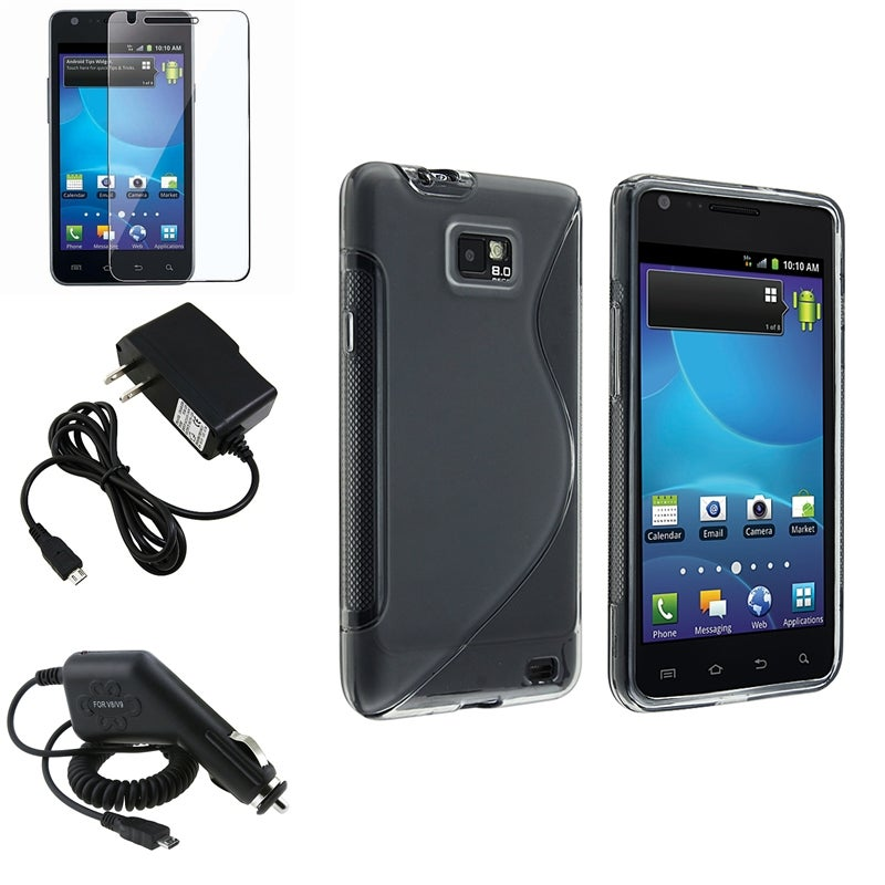 TPU Case/ Screen Protector/ Chargers for Samsung Galaxy S II AT&T i777