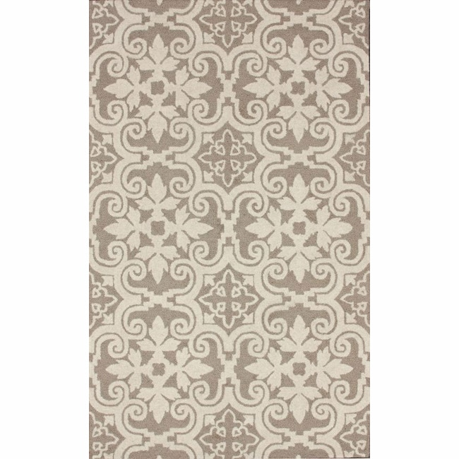 nuLOOM Handmade Spanish Tiles Beige Wool Rug (7'6 x 9'6)