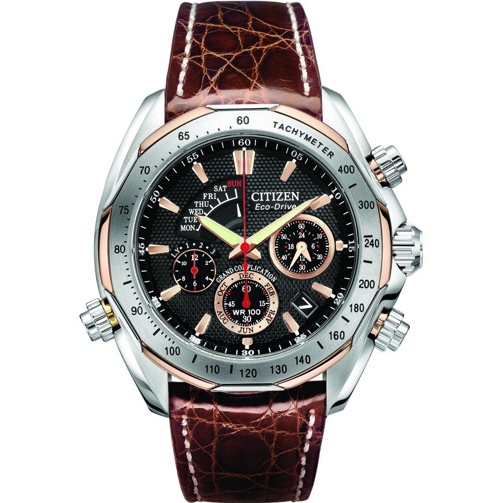 Citizen Men's Signature Eco-Drive Brown Leather Watch