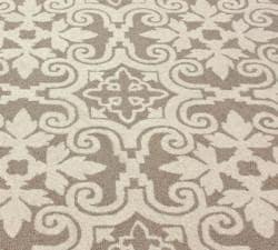nuLOOM Handmade Spanish Tiles Beige Wool Rug (7'6 x 9'6) - Thumbnail 2