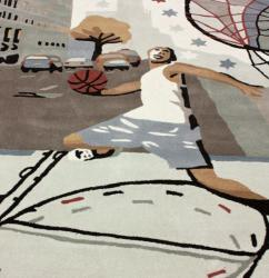 nuLOOM Handmade Kids Basketball Ivory Rug (3'6 x 5'6) - Thumbnail 2