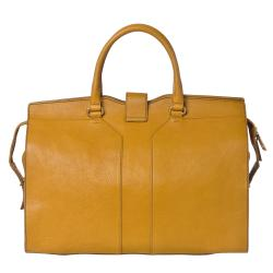 Yves Saint Laurent 'Cabas Chyc' Large Mustard Leather Tote Bag