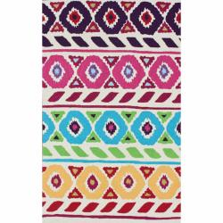 nuLOOM Handmade Modern Abstract Multi Rug (7'6 x 9'6)